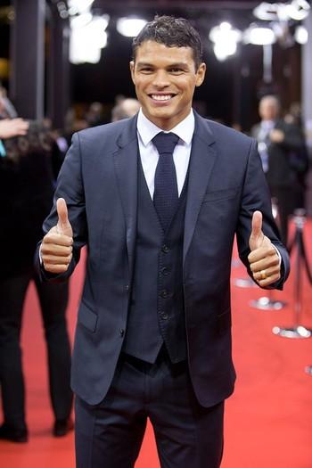 Thiago Silva durante evento de gala da Fifa (Foto: Facebook)