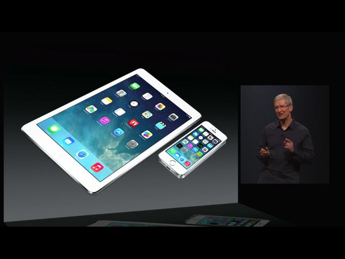 iOS 8 continua com a mesma interface da versão anterior, mas traz novas funcionalidades (Foto: Divulgação/Apple)