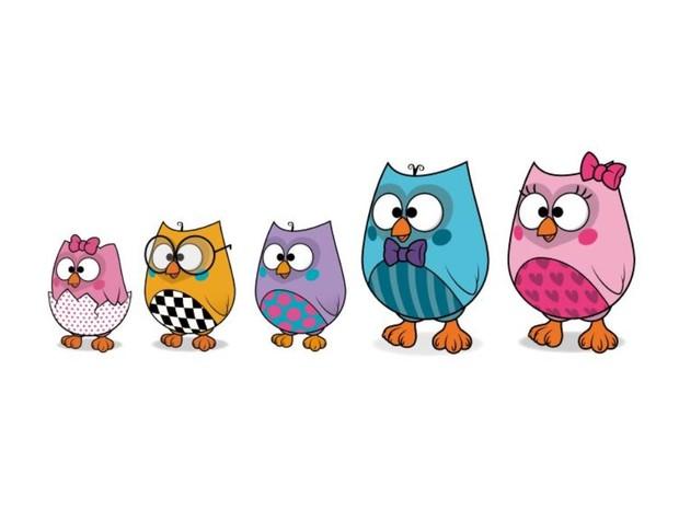 Familia de corujinhas protagoniza episódios da Disney (Foto: Up Licensing/Divulgação)