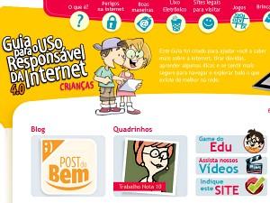 Site traz dicas de segurança e de navegação pela rede.  (Foto: Site oficial/Reprodução)
