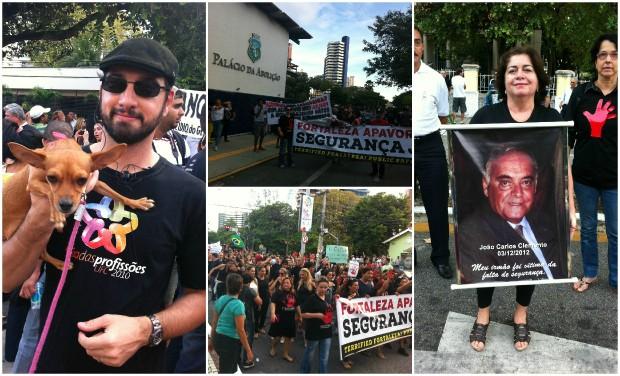 Famílias inteiras se reuniram para pedir mais segurança em Fortaleza (Foto: Diana Vasconcelos/G1 CE)