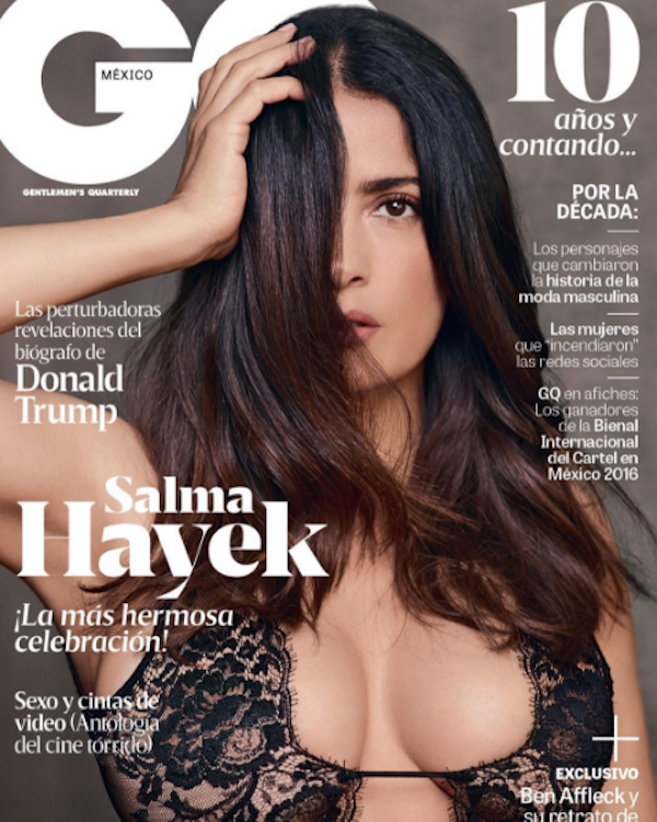 A capa de revista protagonizada por Salma Hayek (Foto: Instagram)