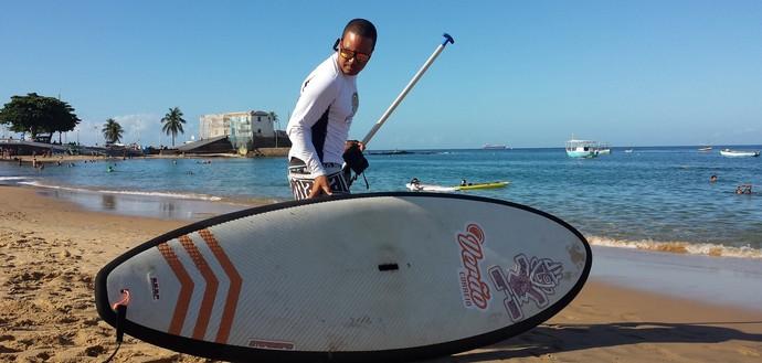 Stand Up Paddle; Porto da Barra; Sup (Foto: Raphael Carneiro)