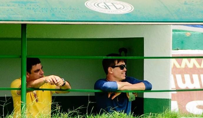 Horley Senna e Waldir Lins diretoria Guarani (Foto: Rodrigo Villalba / Memory Press)