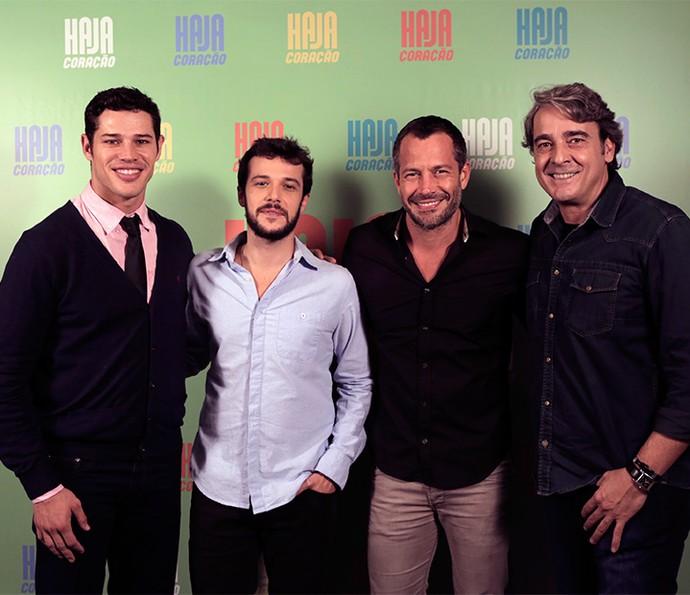 José Loreto, Jayme Matarazzo, Malvino Salvador e Alexandre Borges montam o time de galãs da novela (Foto: Ellen Soares/ Gshow)