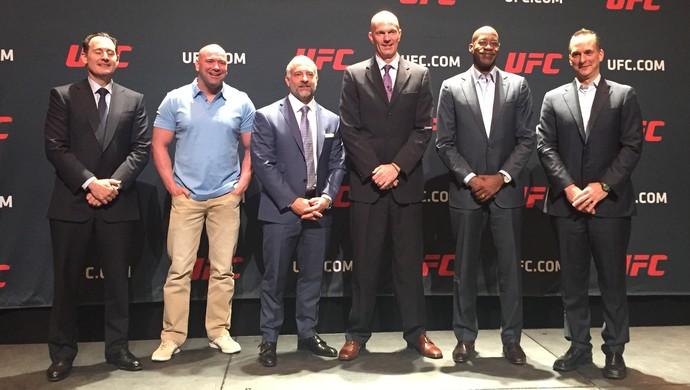 Coletiva UFC sobre nova política antidoping da organização (Foto: Evelyn Rodrigues)