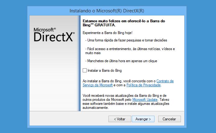 Selecione se deseja instalar a barra de ferramentas do Bing (Foto: Reprodução/Helito Bijora)