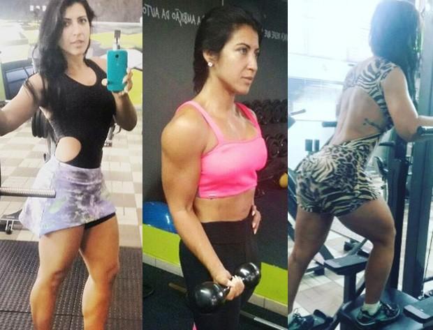 Priscila Pires nos treinos (Foto: Instagram/Reprodução)