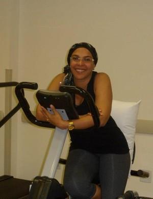 Durante o tratamento, o esporte foi o grande aliado de Márcia Melo (Foto: Márcia Melo/ arquivo pessoal )