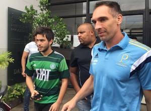 Em Prudente, Cuca pede apoio, e Prass elogia torcedores do Palmeiras