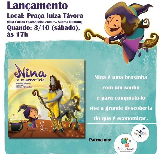 Livro infantil será lançado neste sábado na Praça Luíza Távora (Foto: Divulgação)