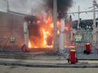 Incêndio atinge estação da Transpetro no bairro dos Pires em Atibaia, SP