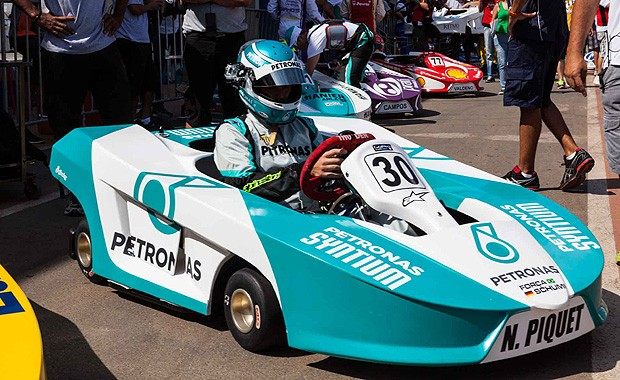 Nelsinho Piquet a bordo de seu kart no Desafio Internacional das Estrelas (Foto: Fred Chalub/Autoesporte)