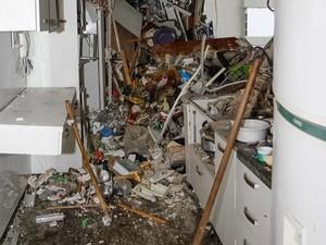 Apartamento onde houve explosão em São Conrado ficou completamente destruído (Foto: Tarso Ghelli/ Prefeitura)