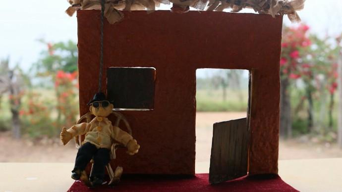 Teatro de lambe-lambe (Foto: TV Bahia)