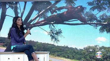 Graciane Dias avalia fotos de telespectadores