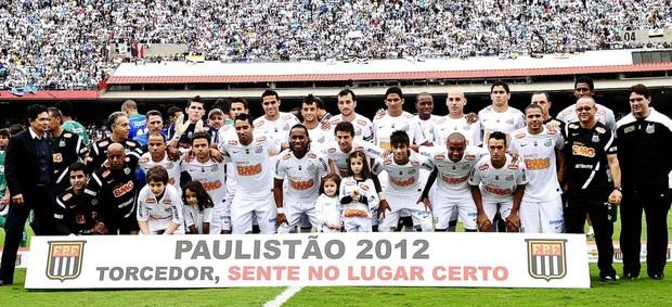 Santos poster campeão paulista (Foto: Marcos Ribolli / Globoesporte.com)