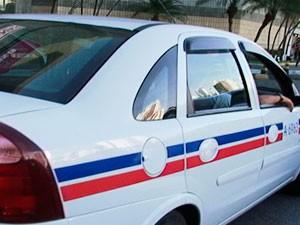 Táxi em Salvador (Foto: Reprodução/TV Bahia)