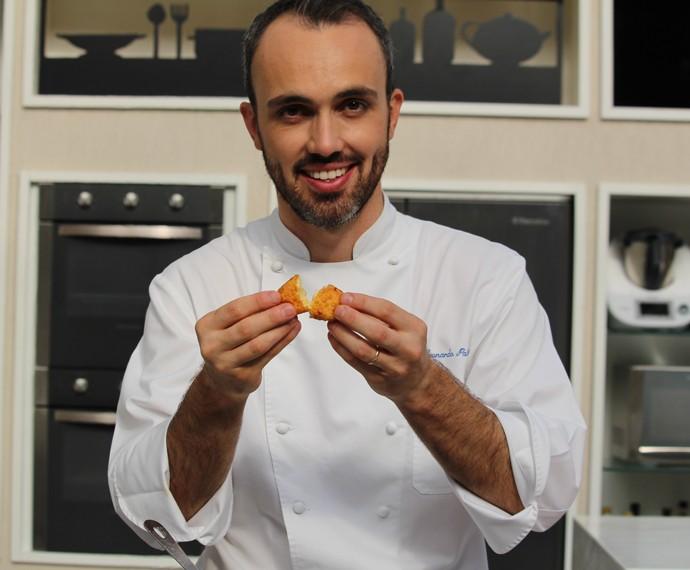 Chef Leonardo Paixão mostra passo a passo de um delicioso Nhoque Frito (Foto: Carolina Morgado/Gshow)