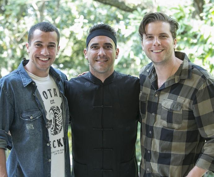 Ricardo Vianna, André Marques e Thiago Fragoso no 'Mais Você' (Foto: Raphael Dias/Gshow)