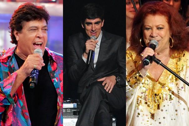 Sidney Magal, Marcelo Adnet e Beth Carvalho confirmaram presença no camarote da Globo no Maracanã (Foto: Globo)