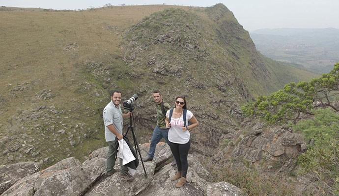 Equipe aproveitou o belo visual na Serra da Canastra (Foto: Divulgação | Tô Indo)