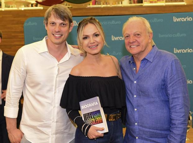 Adriano Ricco, Eliana e Flávio Ricco (Foto: Leo Franco/AgNews)