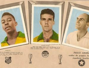 Selo com Pelé, Zagalo e Paulo Amaral, em 1970 #RN (Foto: Arquivo Pessoal)