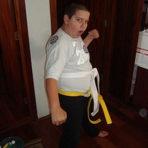 Giovanni, com 12 anos, pesava 90 kg  (Foto: Giovanni Cury Fragalle/Arquivo Pessoal)