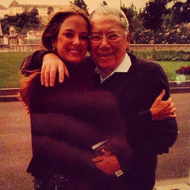 Ticiane Pinheiro e o pai de Roberto Justus (Foto: Instagram/Reprodução)