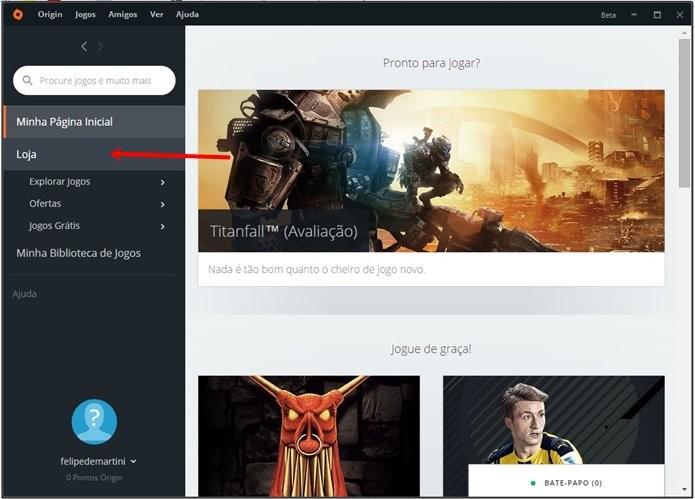 No PC, Titanfall 2 está disponível somente no Origin, sistema da própria EA (Foto: Reprodução/Felipe Demartini)