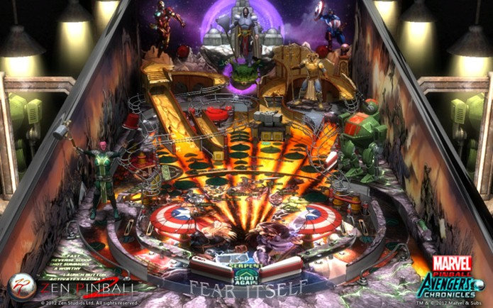 Zen Pinball 2 conta com mesas da Marvel e filmes (Foto: Divulgação/Zen Studios)