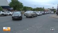 Acidente deixa o trânsito lento na Avenida T-9, no Jardim América