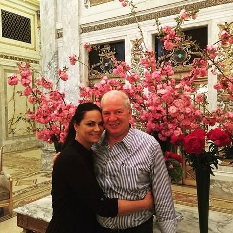 Luiza e o namorado, Lírio (Foto: Reprodução)