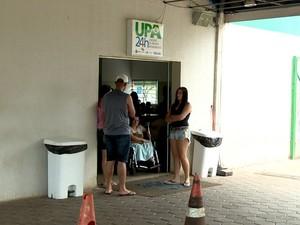 Pacientes à espera de atendimento na UPA de Sumaré, SP (Foto: Reprodução / EPTV)