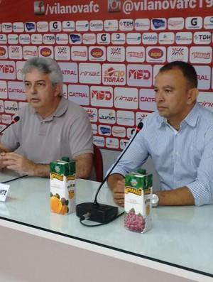 Wilson Balzacchi e Ecival Martins, presidente interino do Vila Nova (Foto: Comunicação/Vila Nova)