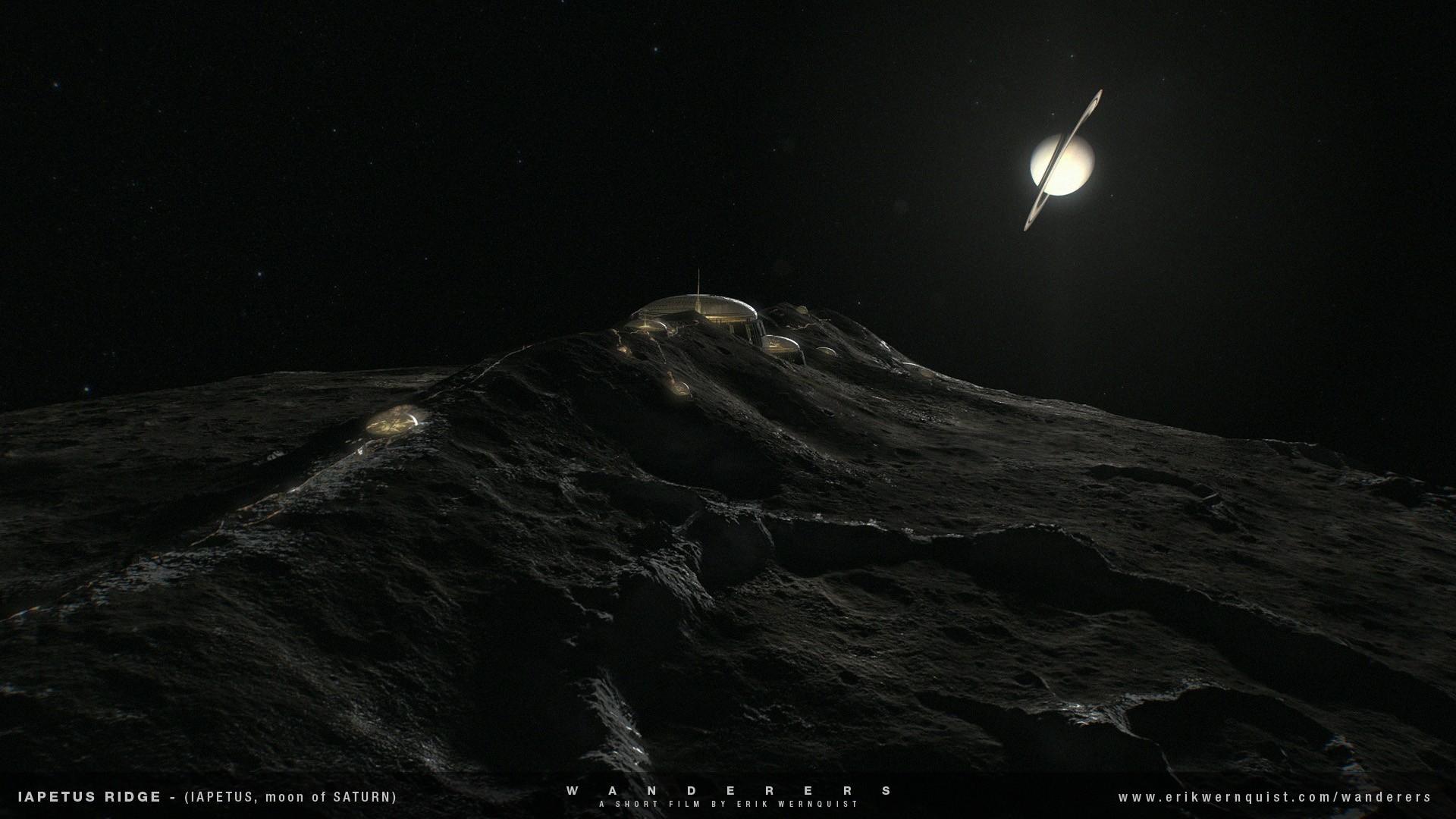Colônia em Jápeto, lua de Saturno (Foto: Reprodução)