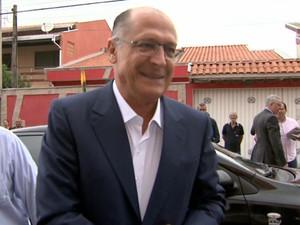 Governador Geraldo Alckmin visitou o interior de São Paulo na manhã desta quinta-feira (5) Hortolândia (Foto: Reprodução/EPTV)