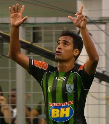 Tchô, atacante do América-MG (Foto: Reprodução\TV Globo Minas)