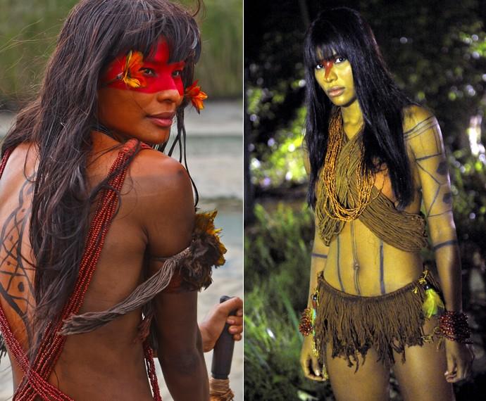 Suyane Moreira foi uma índia em As Brasileiras e Araguaia (Foto: Vídeo Show / Gshow)