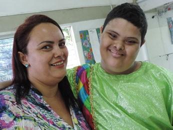 Sheila com filho Ítalo (Foto: Luna Markman/ G1)