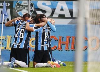 Gol Grêmio x Flamengo (Foto: Lucas Uebel/Divulgação Grêmio)