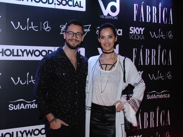 Rainer Cadete e a namorada, Taianne Raveli, em festa no Centro do Rio (Foto: Wallace Barbosa/ Ag. News)