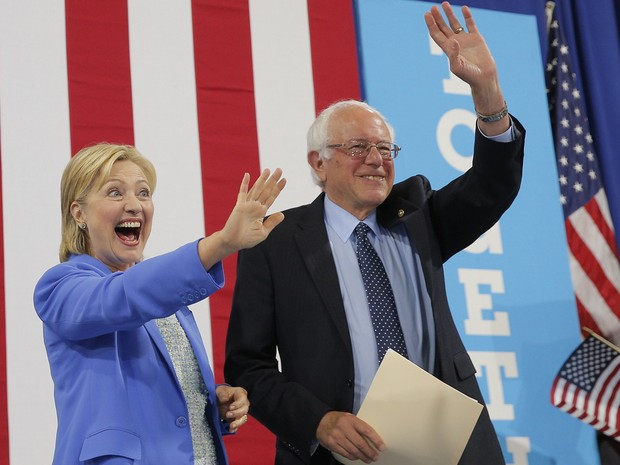 Bernie Sanders anuncia apoio à candidatura de Hillary Clinton (Foto: REUTERS/Brian Snyder)