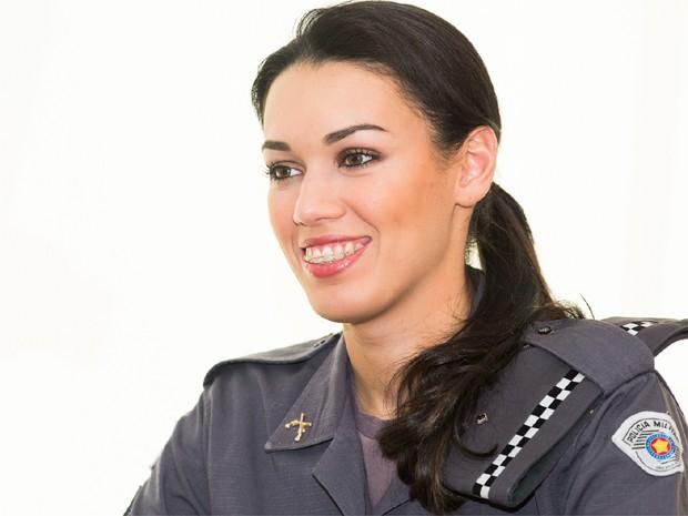 Helena Moraes foi promovida a  2º tenente da Polícia Militar do Estado de São Paulo (Foto: Érico Andrade/G1)