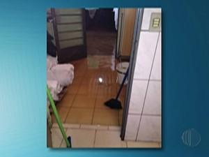 Chuva causou estragos no Alto Tietê na madrugada de sexta-feira (11) (Foto: Reprodução/TV Diário)