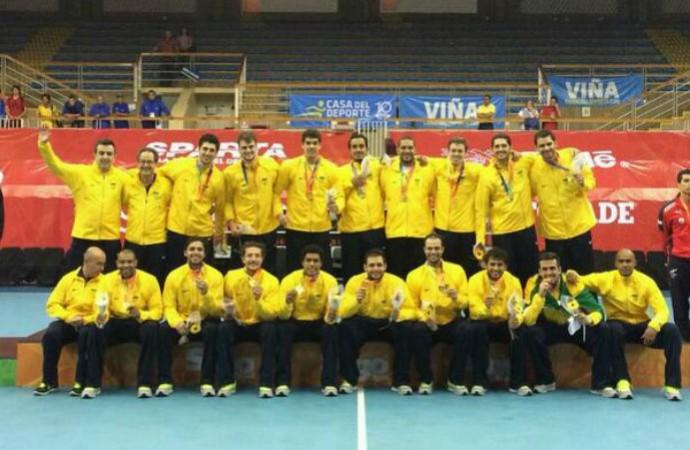 Brasil conquista o ouro no handebol nos Jogos Sul-Americanos (Foto: Divulgação)