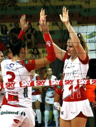Vôlei Bauru x Rio do Sul, Superliga, Valquíria (Foto: Neide Carlos / Vôlei Bauru)