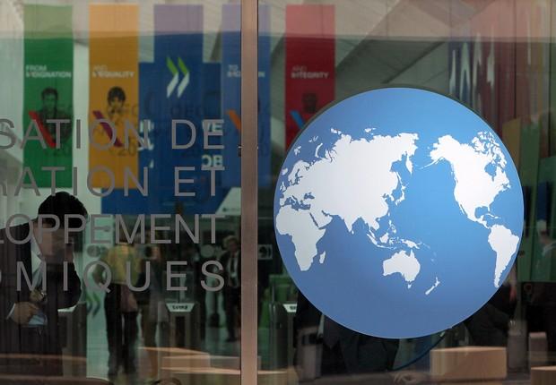 Fachada da Organização para a Cooperação e Desenvolvimento Econômico (OCDE) (Foto: Reprodução/Facebook)