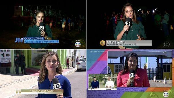 TV Sergipe participa da cobertura do desaparecimento e da morte do ator Domingos Montagner (Foto: Divulgação / TV Sergipe)